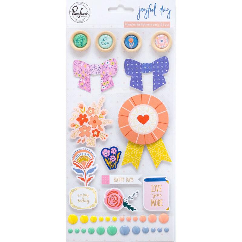 Pinkfresh Studio - Joyful Day Mixed Embellishment Pack