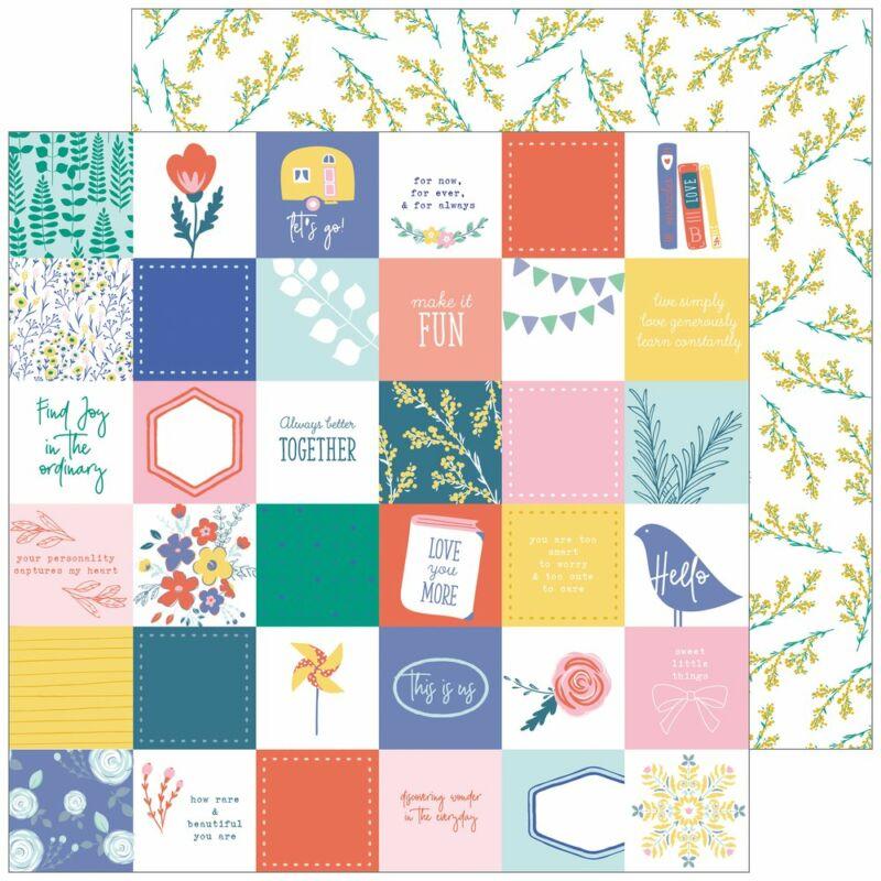 Pinkfresh Studio - Joyful Day 12x12 Paper - Simple Pleasures