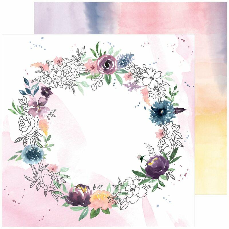 Pinkfresh Studio - Just a Little Lovely 12x12 Paper - Around Here