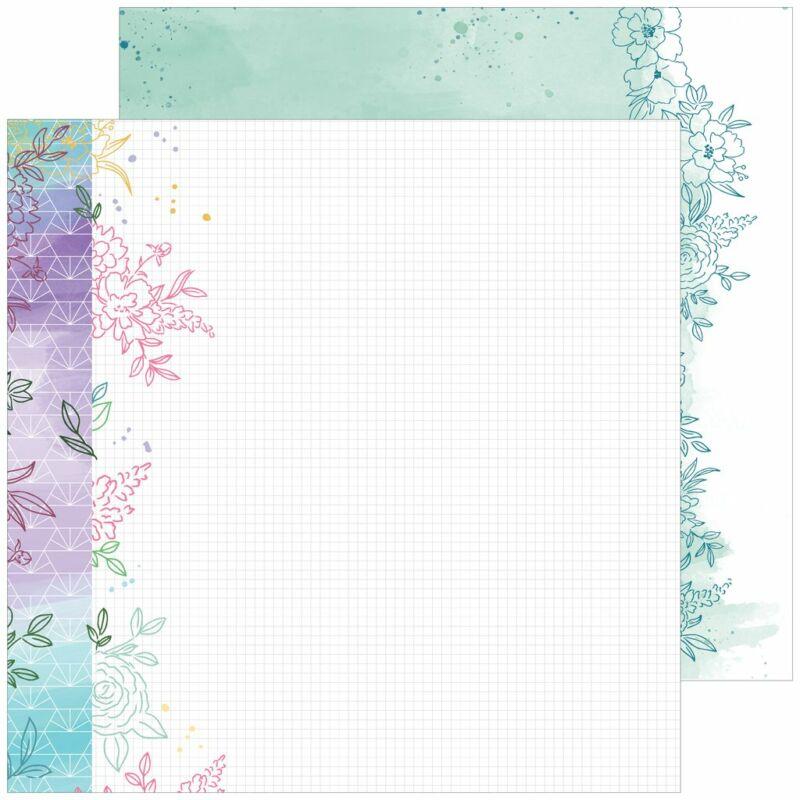 Pinkfresh Studio - Just a Little Lovely 12x12 Paper - Hope