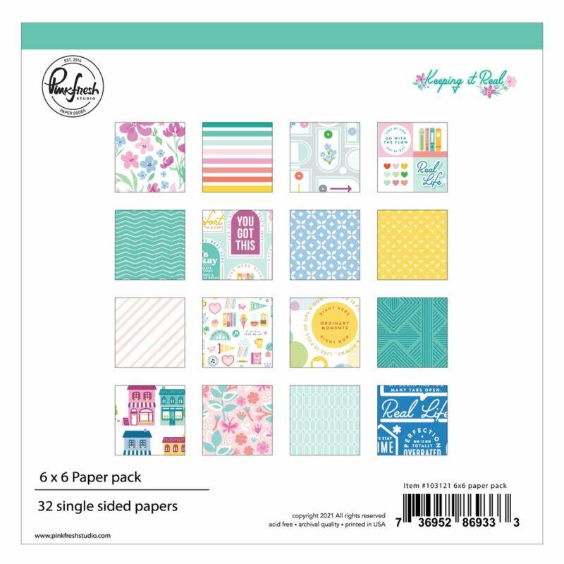 Pinkfresh Studio - Keeping it Real 6x6 papírtömb