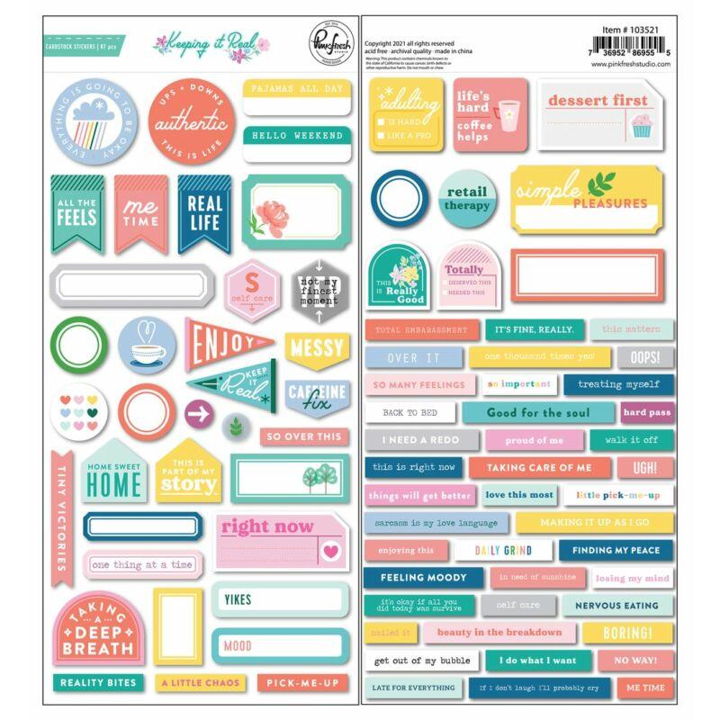 Pinkfresh Studio - Keeping it Real Cardstock stickers