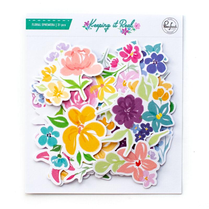 Pinkfresh Studio - Keeping it Real Floral ephemera pack