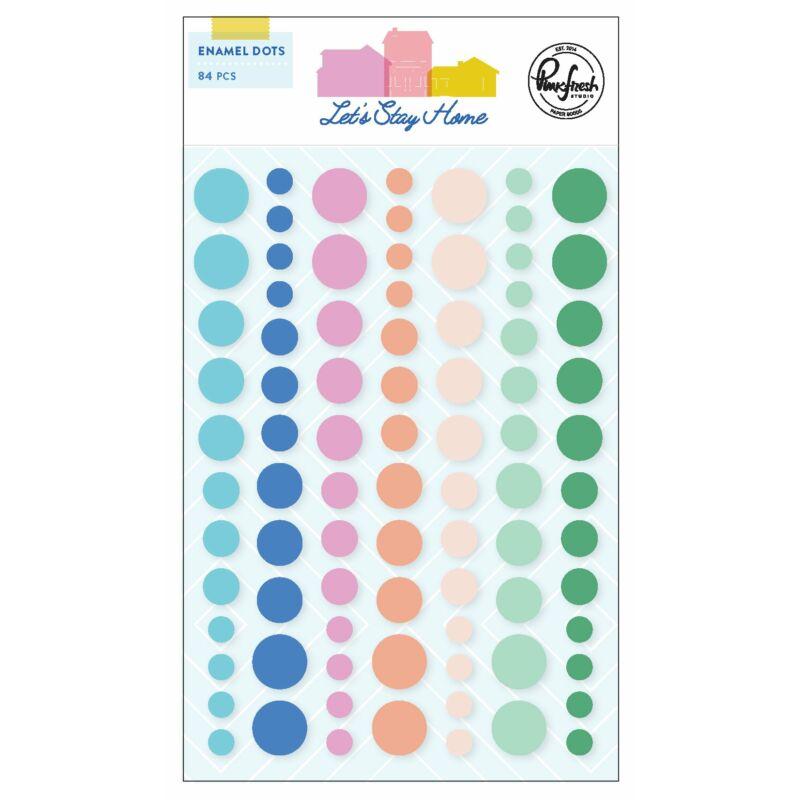 Pinkfresh Studio - Let's Stay Home Enamel Dots