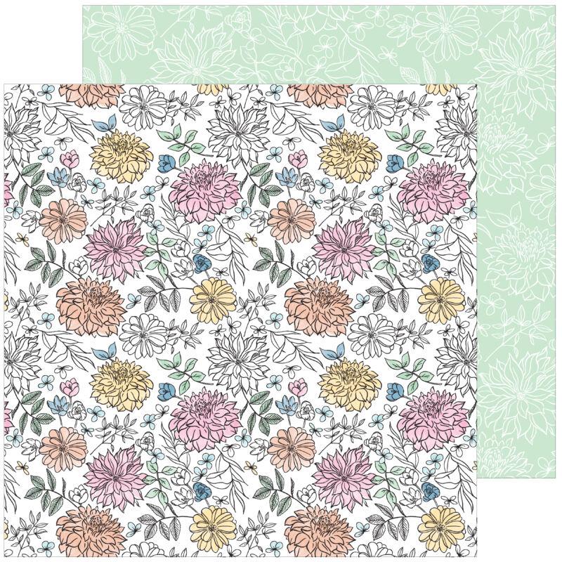 Pinkfresh Studio - My Favorite Story 12x12 papír - Bloom and Grow