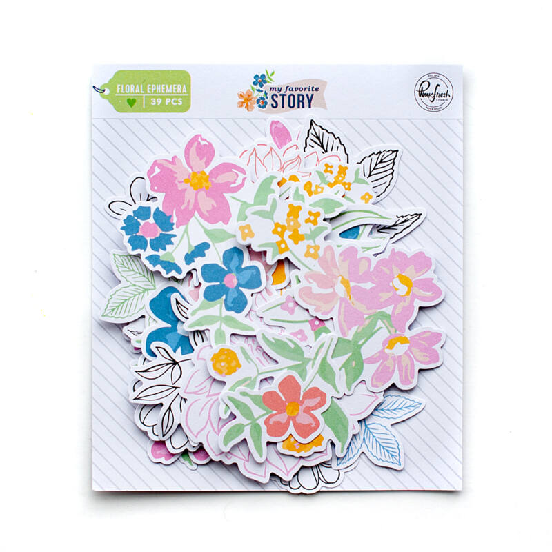 Pinkfresh Studio - My Favorite Story Floral Ephemera Pack