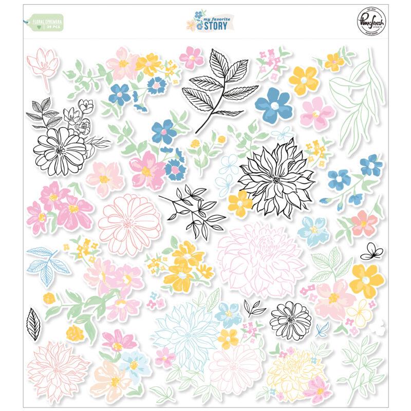 Pinkfresh Studio - My Favorite Story Floral Ephemera Pack