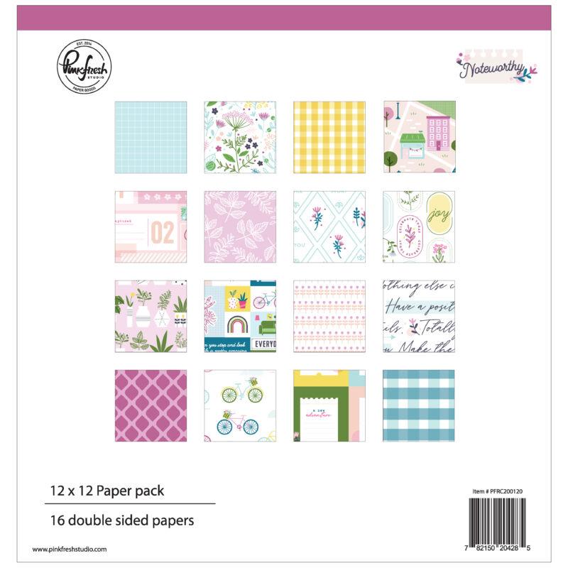 Pinkfresh Studio - Noteworthy 12x12 papírkészlet