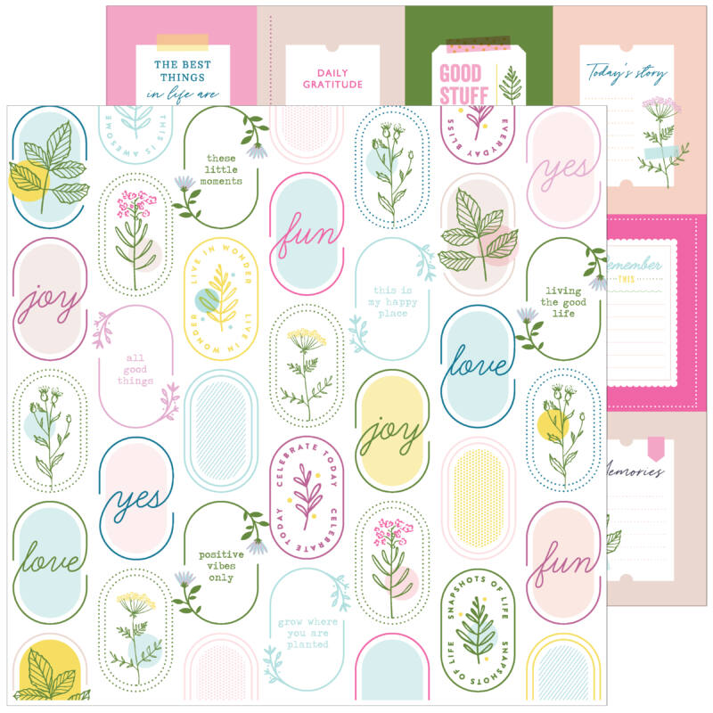 Pinkfresh Studio - Noteworthy 12x12 Paper - Be Curious