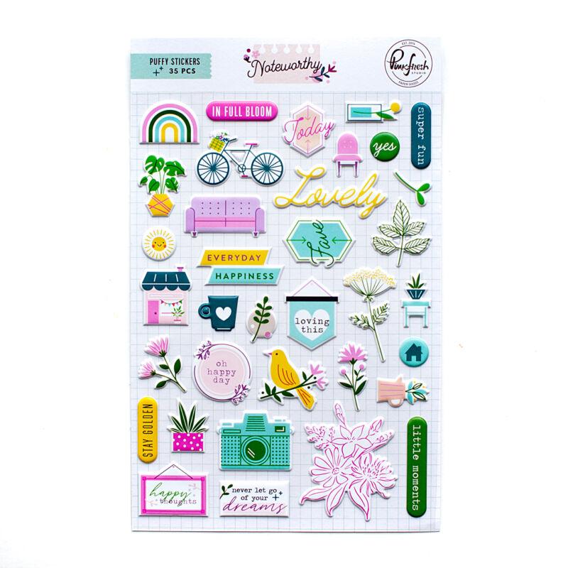 Pinkfresh Studio - Noteworthy Puffy Stickers
