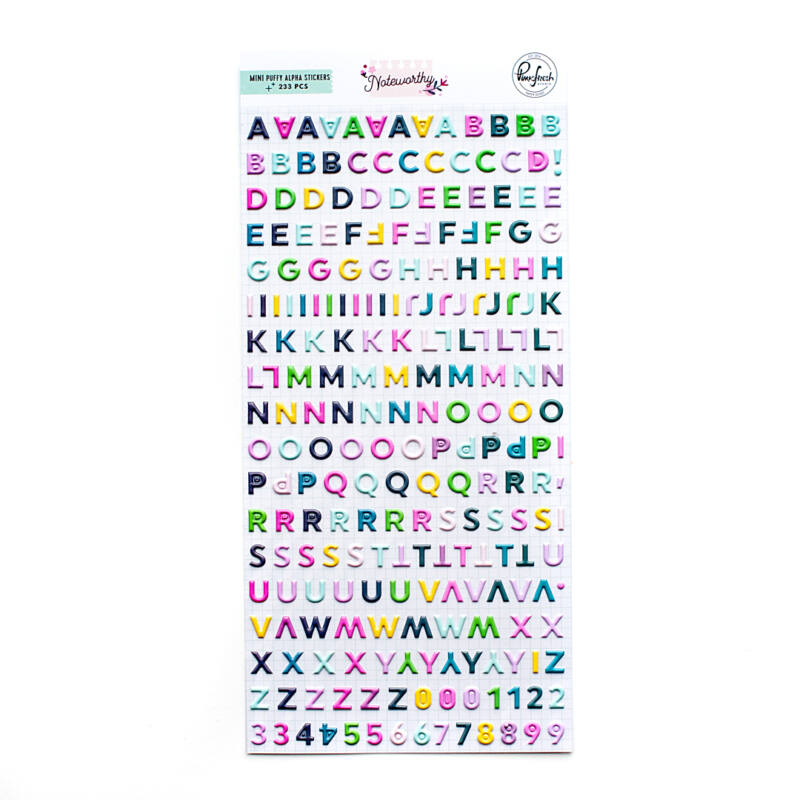 Pinkfresh Studio - Noteworthy Mini Puffy Alpha Stickers