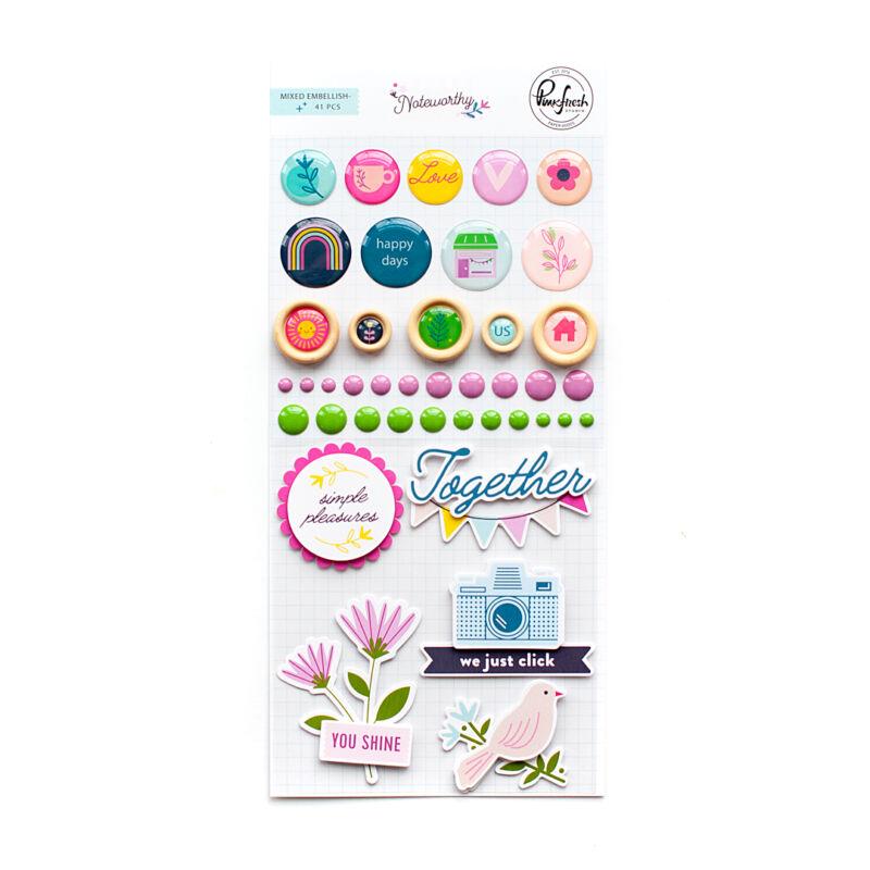 Pinkfresh Studio - Noteworthy Mixed Embellishment Pack