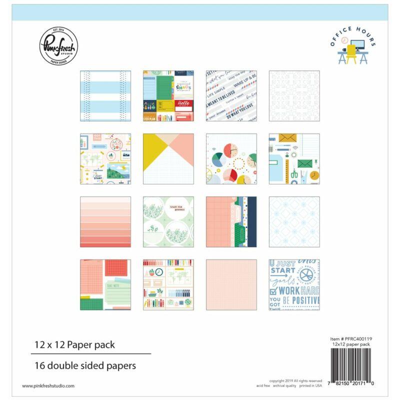 Pinkfresh Studio - Office Hours 12x12 papírkészlet