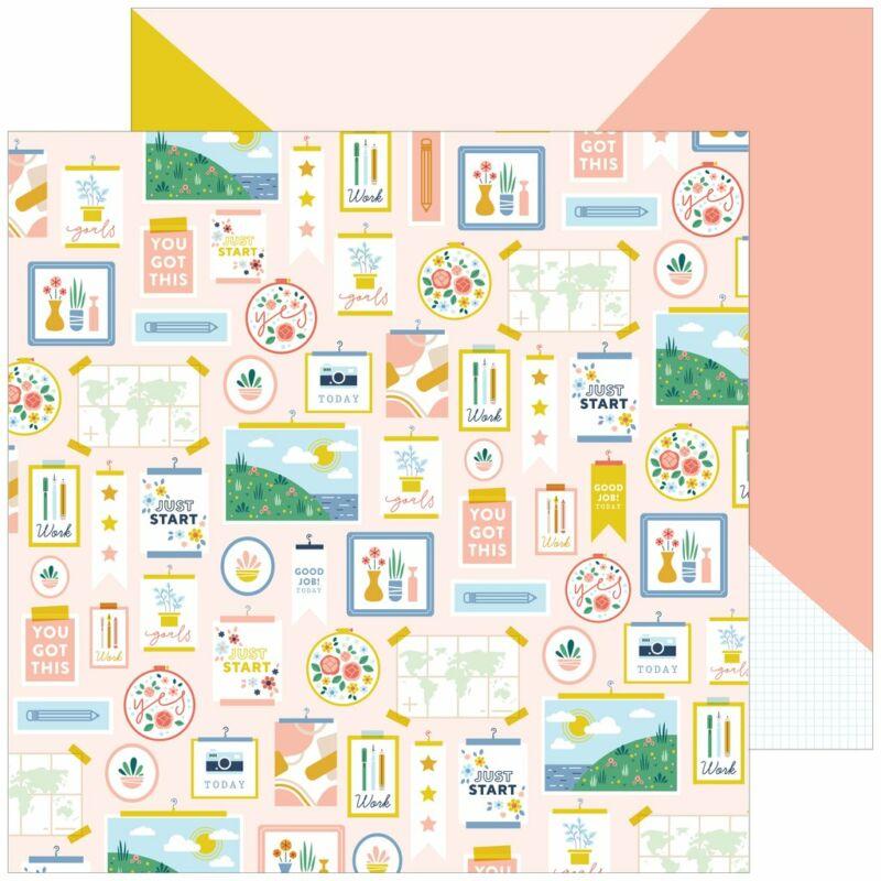 Pinkfresh Studio - Office Hours 12x12 Paper - Inspiration
