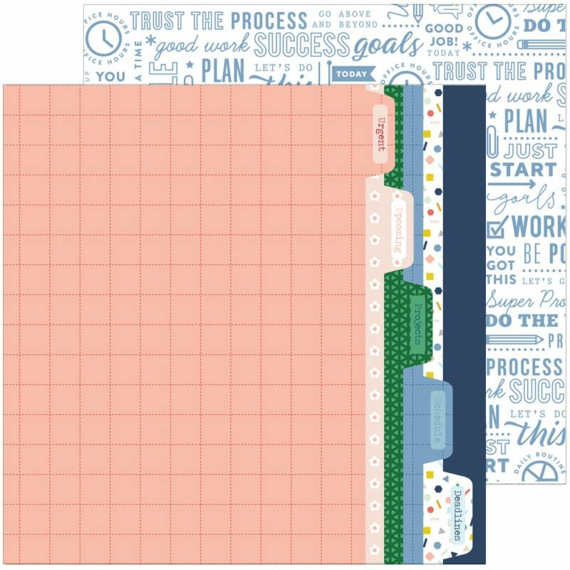 Pinkfresh Studio - Office Hours 12x12 Paper - Prioritize