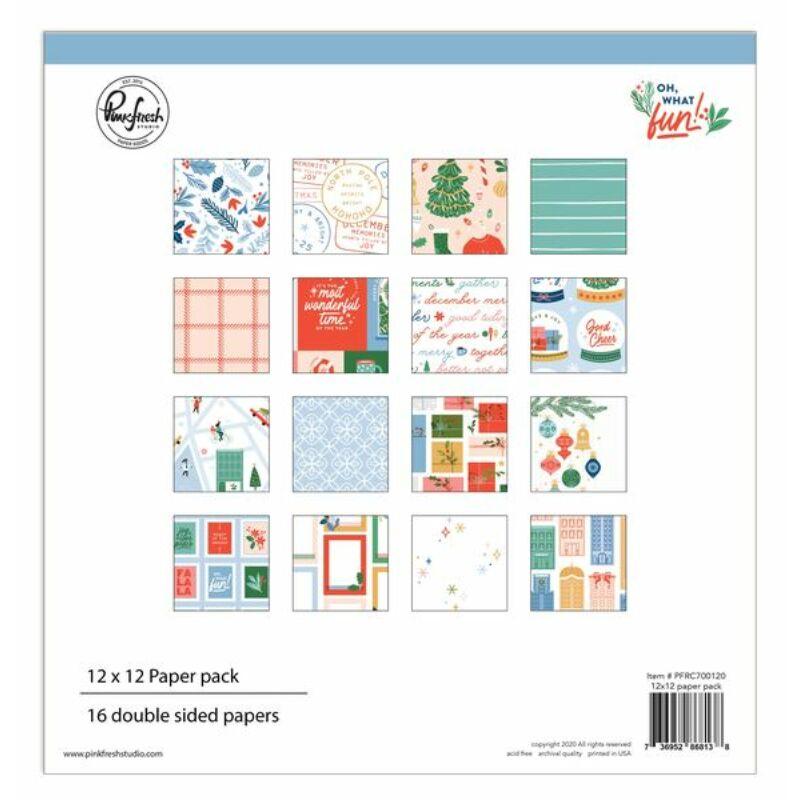 Pinkfresh Studio - Oh What Fun 12x12 Paper Kit