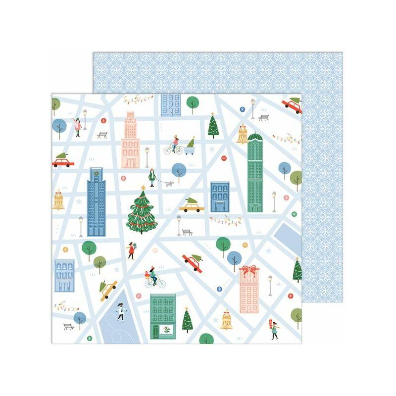 Pinkfresh Studio - Oh What Fun 12x12 Paper - Holiday Walk