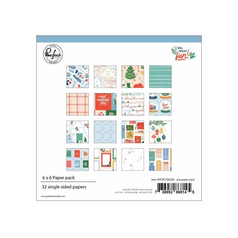 Pinkfresh Studio - Oh What Fun 6x6 Paper Pad