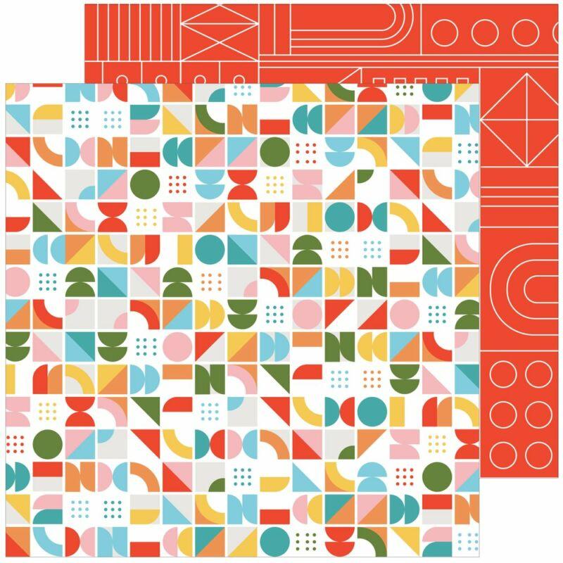 Pinkfresh Studio - Some Days 12x12 Paper - Turning Circles