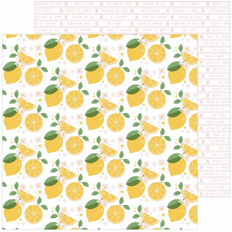 Pinkfresh Studio - Some Days 12x12 papír - Make Lemonade