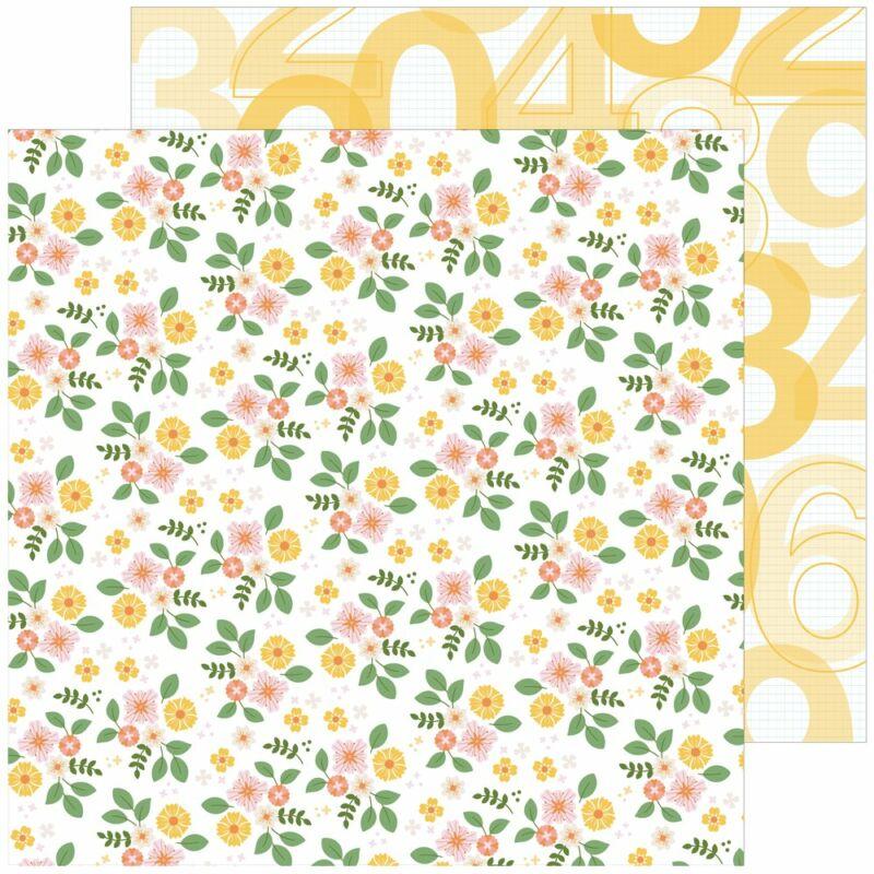 Pinkfresh Studio - Some Days 12x12 papír - Fresh Flowers