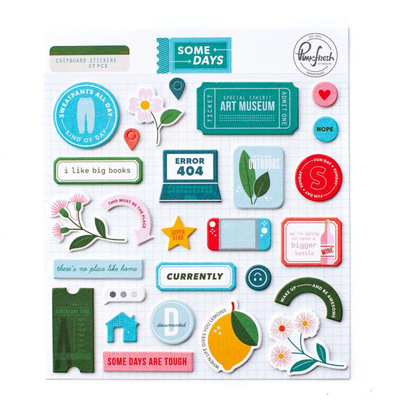 Pinkfresh Studio - Some Days Chipboard Sticker
