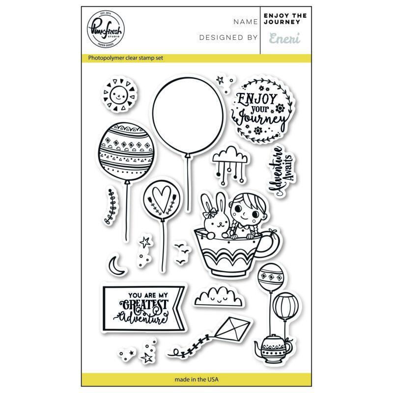 Pinkfresh Studio Clear Stamp - Enjoy the journey