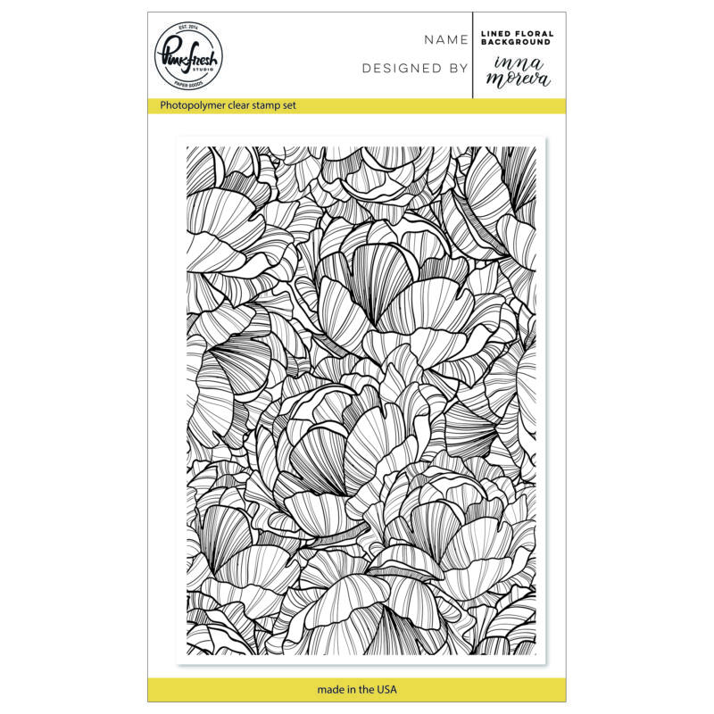 Pinkfresh Studio Clear Stamp - Lined Floral Background