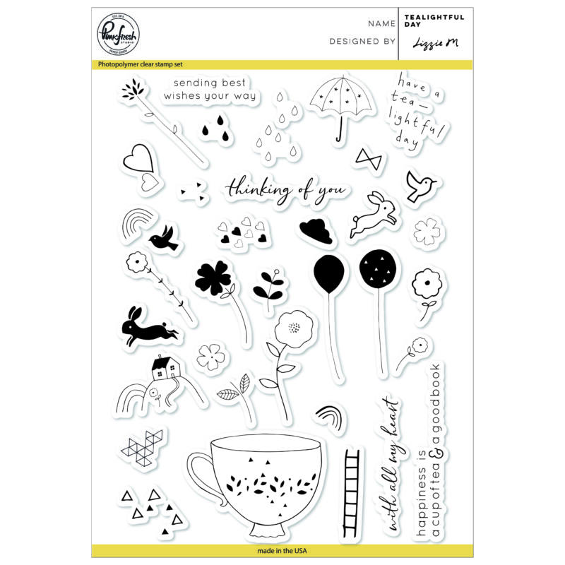 Pinkfresh Studio Clear Stamp - Tealightful day