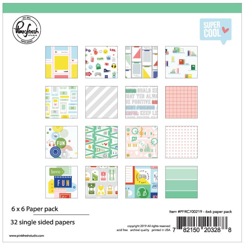 Pinkfresh Studio - Super Cool 6x6 Paper Pad