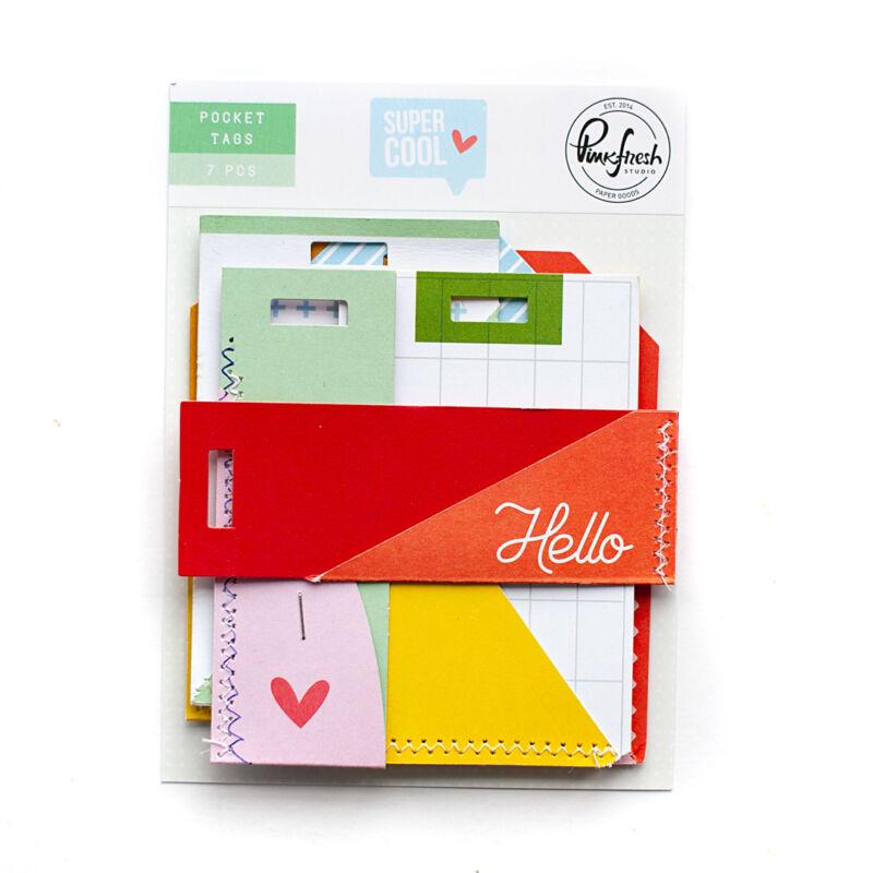 Pinkfresh Studio - Super Cool Stitched Pocket Tags