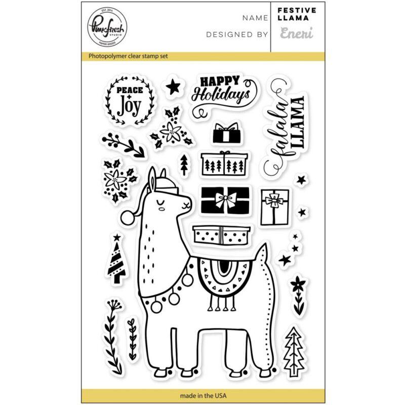 Pinkfresh Studio  štampiljka - Festive Llama