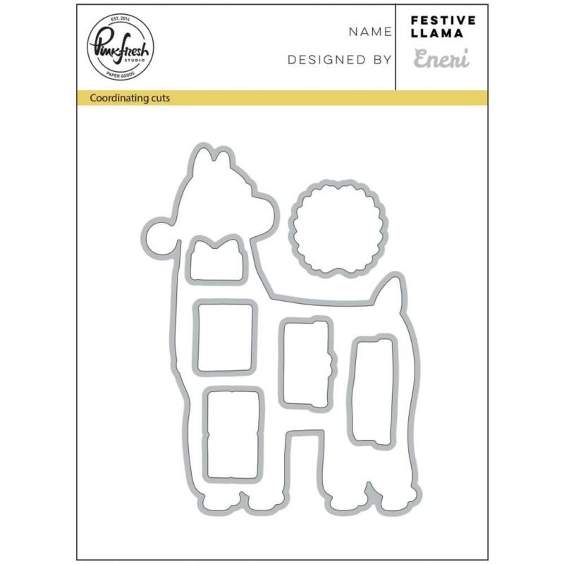 Pinkfresh Studio kovinska šablona - Festive Llama