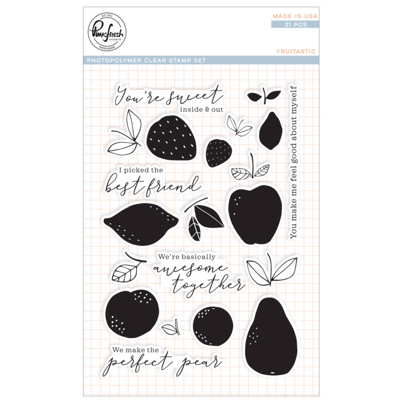 Pinkfresh Studio Stamp Set - Fruitastic