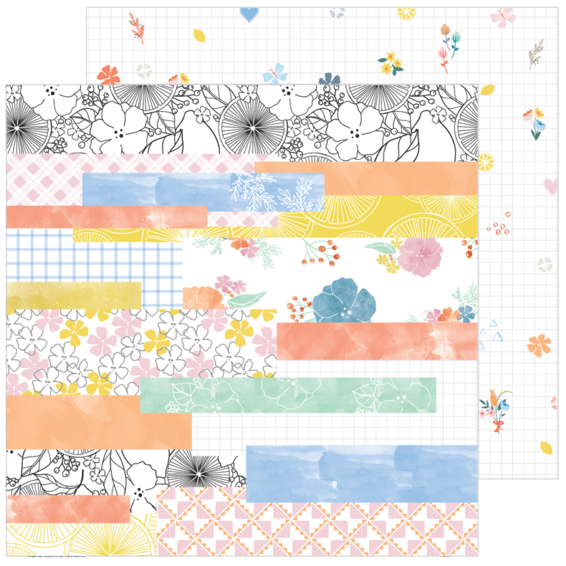 Pinkfresh Studio - Simple & Sweet 12x12 Paper - Happy Life