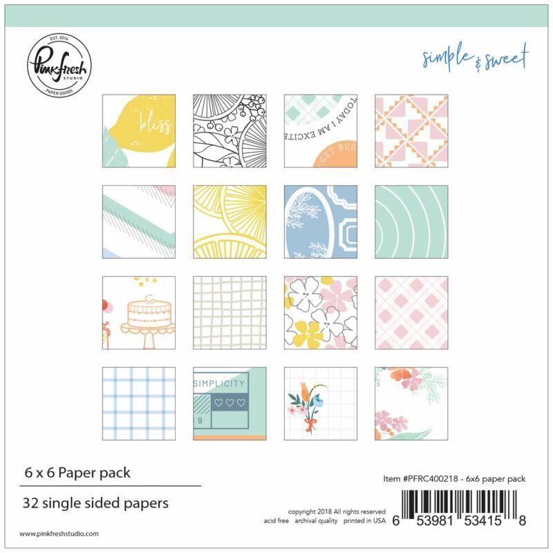 Pinkfresh Studio - Simple & Sweet 6x6 Paper Pad