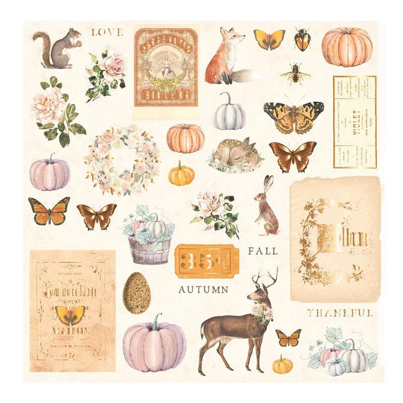 Prima Marketing - Autumn Sunset Ephemera (36 Pieces)