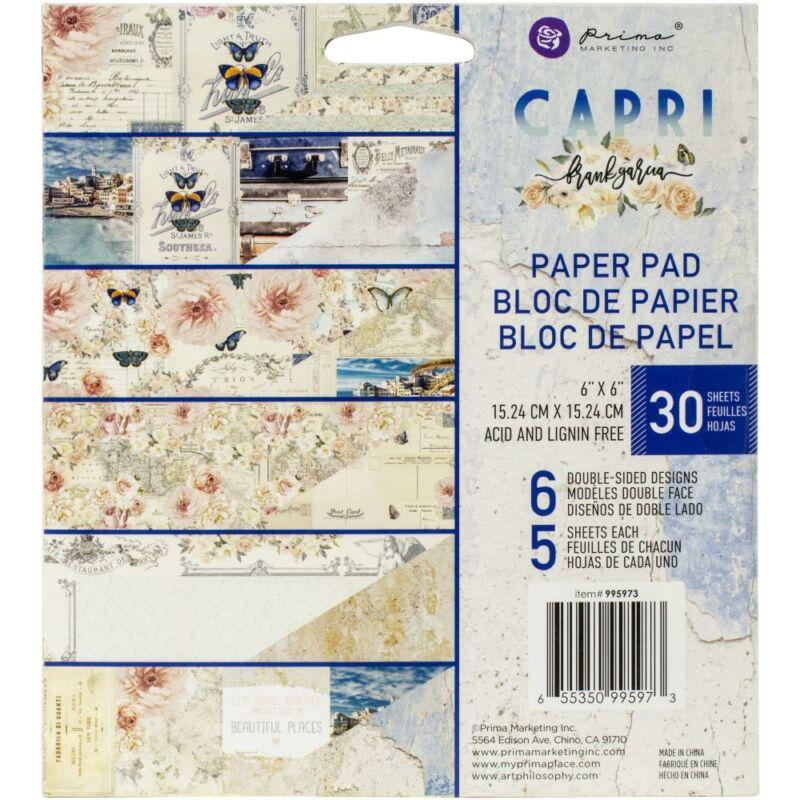 Prima Marketing - Capri 6x6 Double-Sided Paper Pad (30 Sheet)