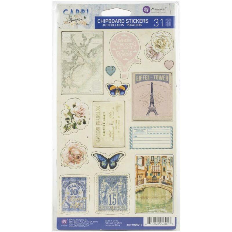 Prima Marketing - Capri Chipboard Stickers (31 Pieces)