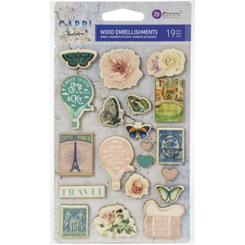 Prima Marketing - Capri Wood Stickers (19 Pieces)