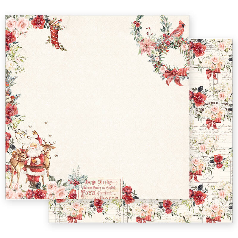 Prima Marketing - Christmas in the Country 12x12 Paper - Sweet Santa Claus