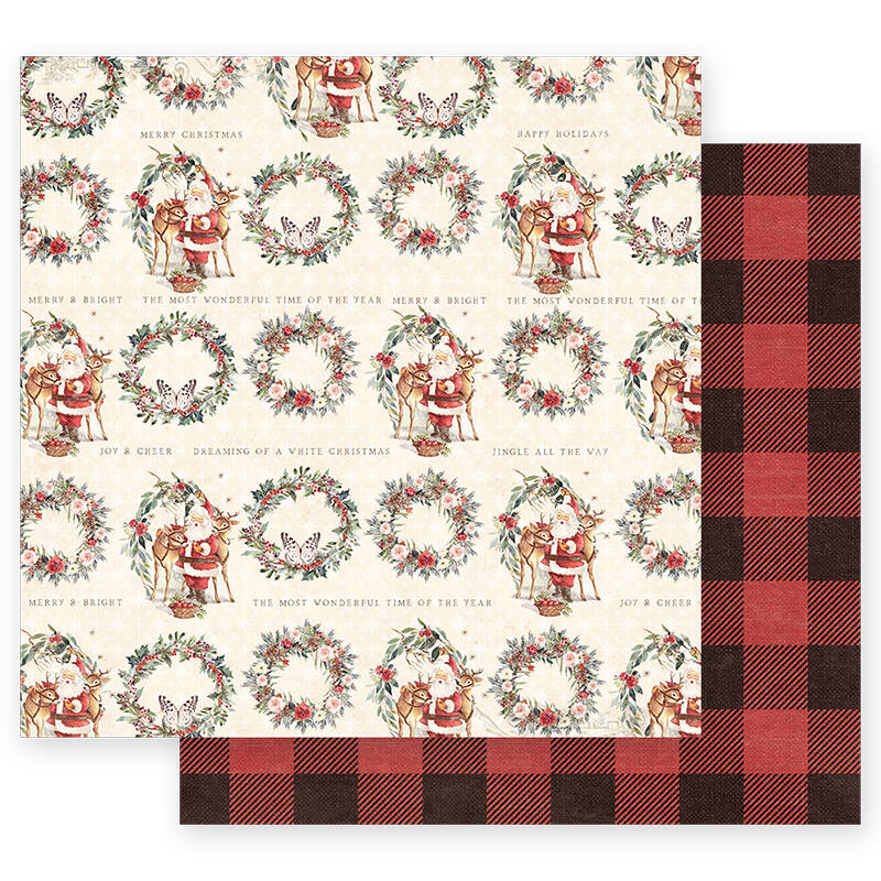 Prima Marketing - Christmas in the Country 12x12 Paper - Most Wonderful Time Of The Year