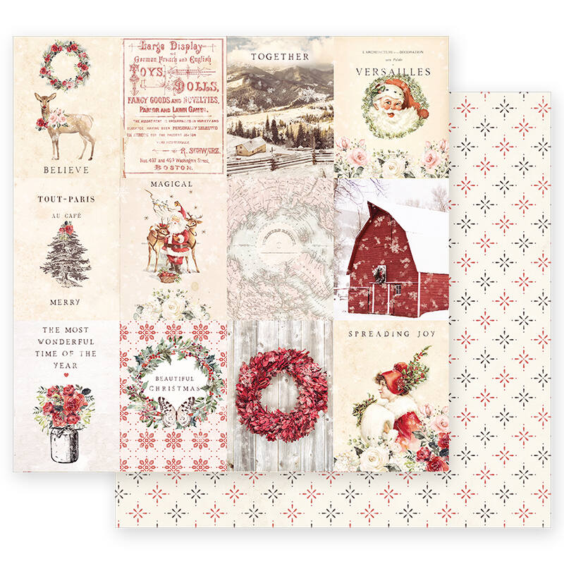 Prima Marketing - Christmas in the Country 12x12 Paper - Spreading Christmas Magic