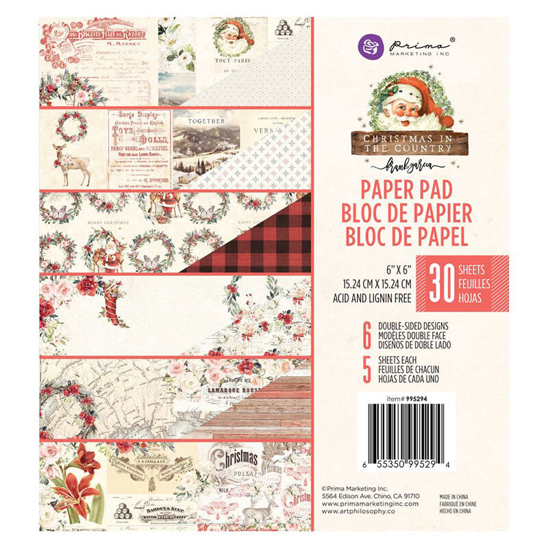 Prima Marketing - Christmas in the Country 6x6 Double-Sided Paper Pad