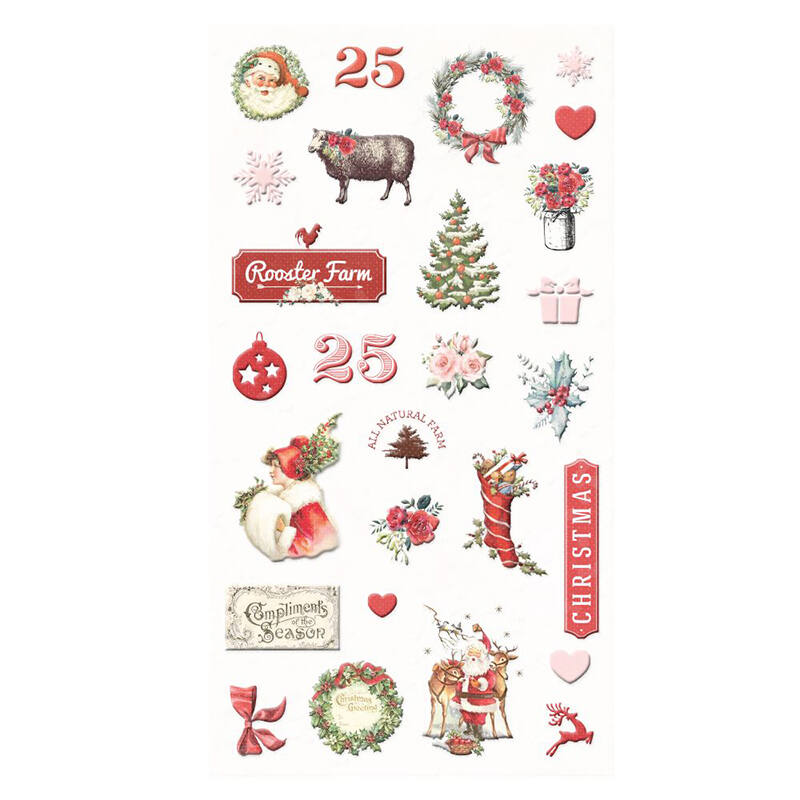 Prima Marketing - Christmas in the Country Puffy Stickers (27 Pieces)