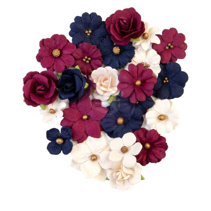 Prima Marketing - Darcelle Paper Flowers - Gilded Beauties