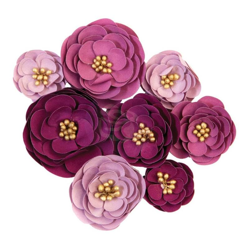 Prima Marketing - Darcelle Paper Flowers - Plum Afternoon