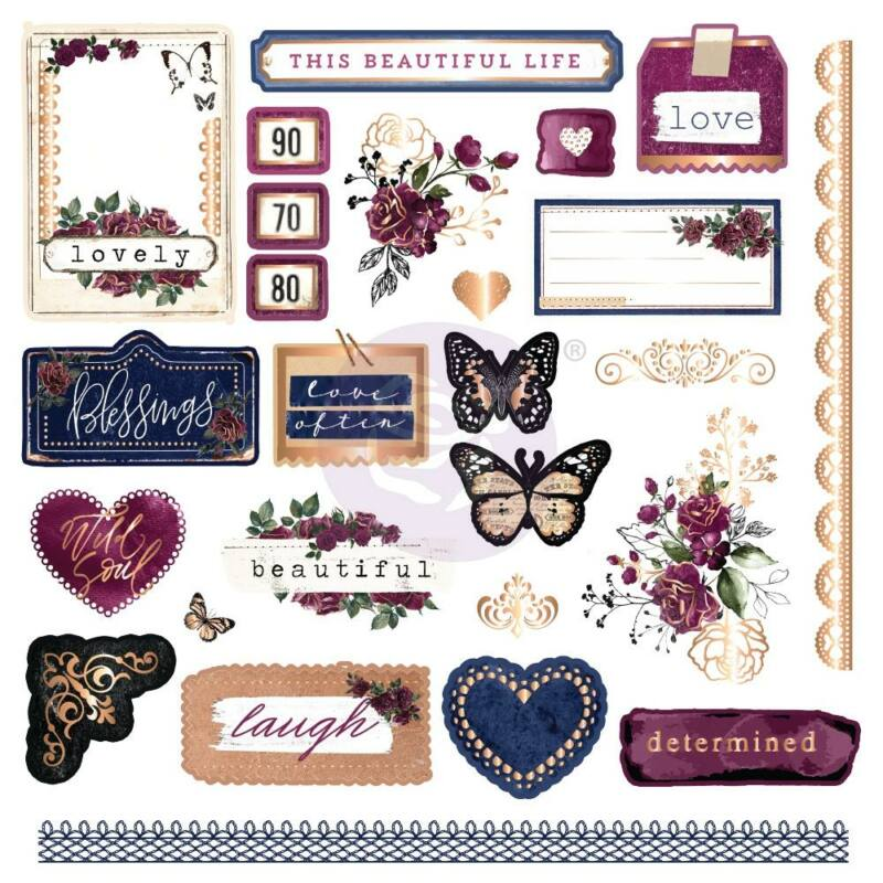 Prima Marketing - Darcelle Cardstock Ephemera (26 Piece)