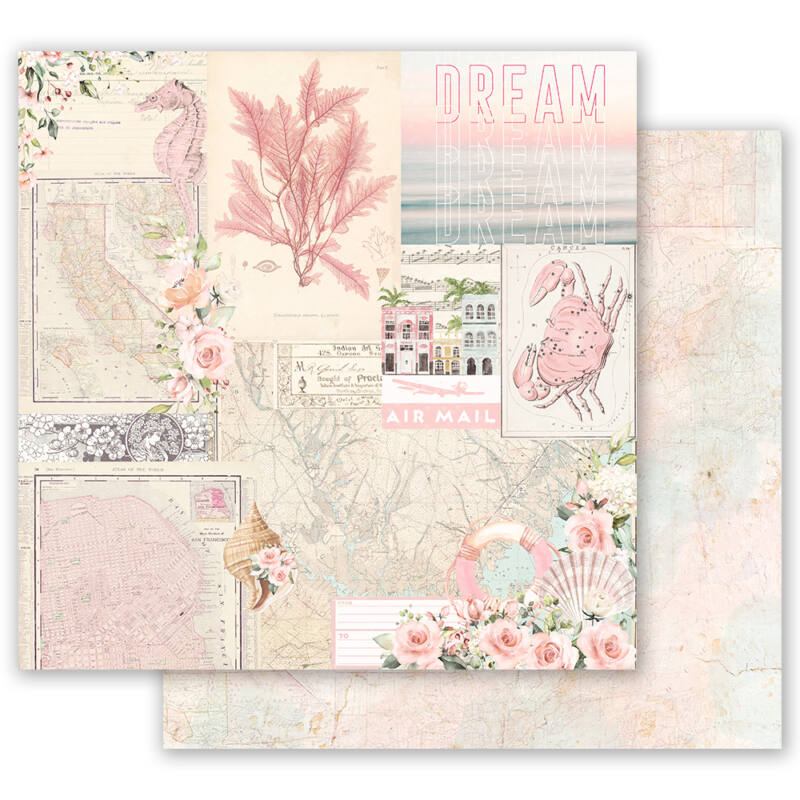 Prima Marketing - Golden Coast 12x12 scrapbook papír - California Dreaming