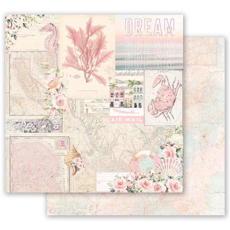 Prima Marketing - Golden Coast 12x12 scrapbook papír - California Dreaming
